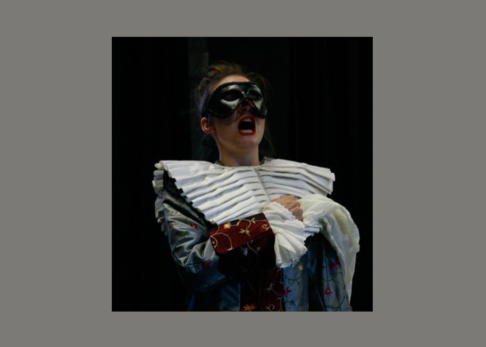 Schauspielerin Alexandra Broneske, Barock-Musik-Theater-Inszenierung: Pimpinella und Marc Antonio (Proben-Foto: Alexander Hilbert